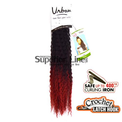 Urban Fresh kunsthaar häkeln zöpfe (farbe T1B/RED)