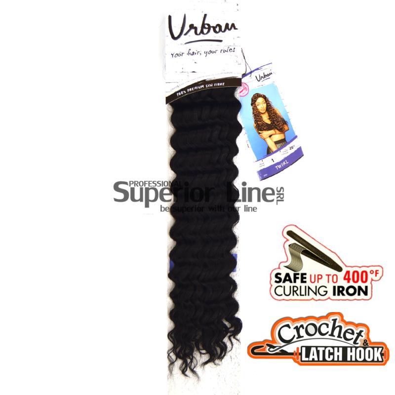 Urban Twirl hajhosszabbitas szintetikus fürtök afro (szín 1)
