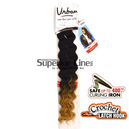 Urban Bounce hajhosszabbitas szintetikus fürtök afro (szín T1B/27)