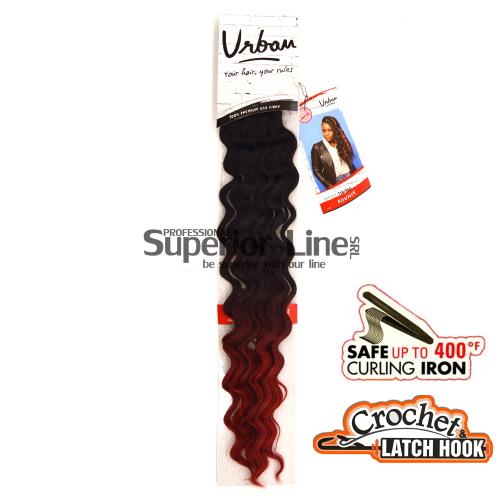 Urban Bounce hajhosszabbitas szintetikus fürtök afro (szín T1B/RED)