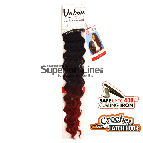 Urban Bounce crochet braid (color T1B/RED)