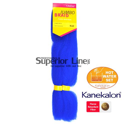 Outre Jumbo Braid cheveu synthétique tresses kanekalon (couleur BLUE)