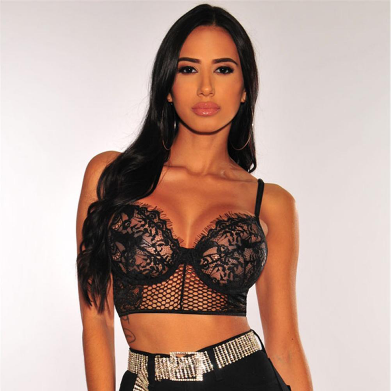 Bralette bra bustier with lace