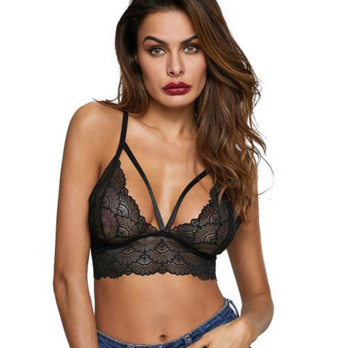 Bralette bra with lace