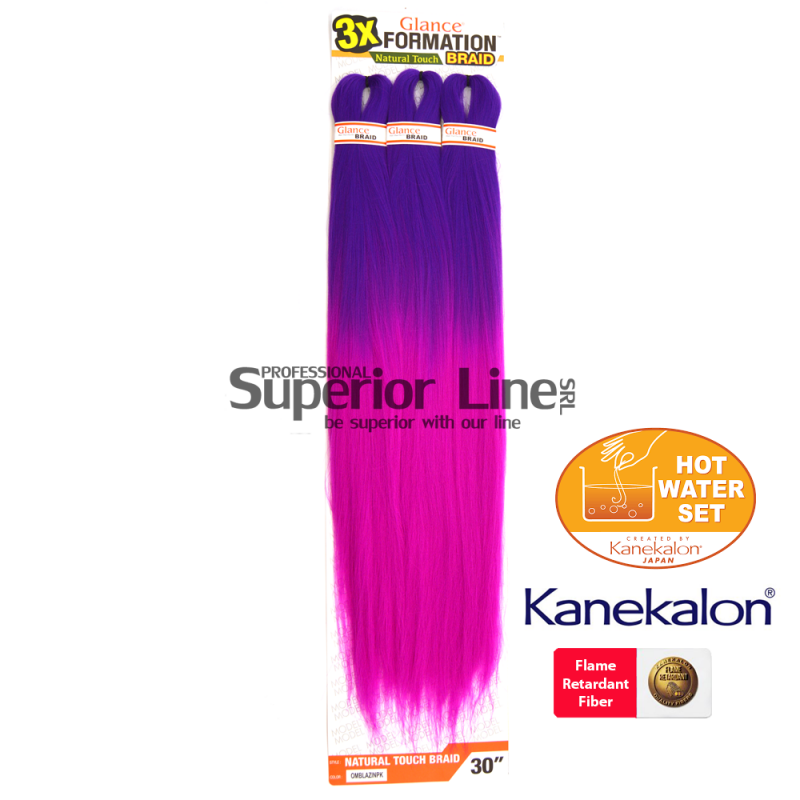 Glance 3X Formation Pre Streched Braid (color OMBLAZINP)