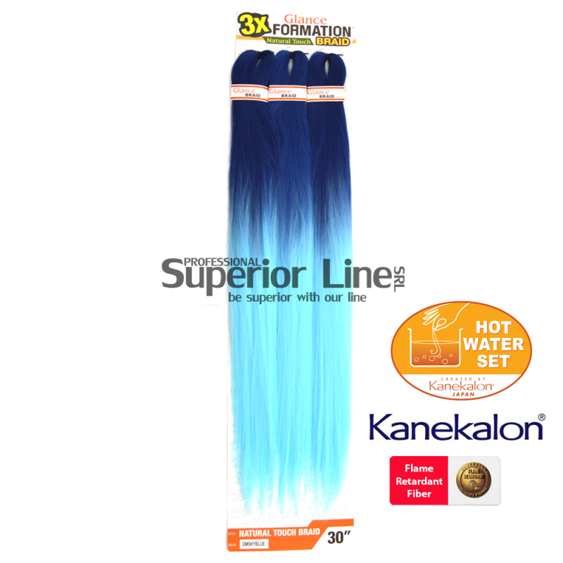 Glance 3X Formation Pre Streched Braid (color OMSKYBLUE)