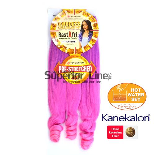 Rastafri Goddess 3X Pre Streched kanekalon haj (szín 3T.BUTTERFLY))