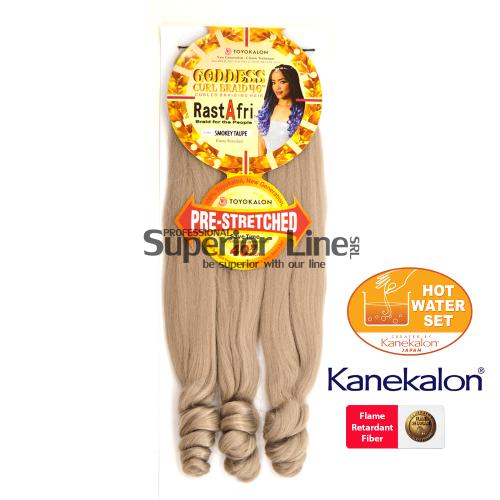 Rastafri Goddess 3X Pre Streched kanekalon haj (szín SMOKEY TAUPE)