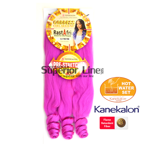 Rastafri Goddess Braid 3X Pre Streched (color ELECTRIC PINK)