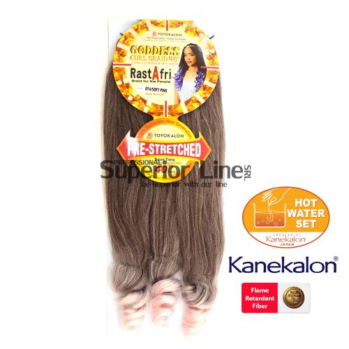 Rastafri Goddess 3X Pre Streched kanekalon haj (szín BT4/SOFT PINK)