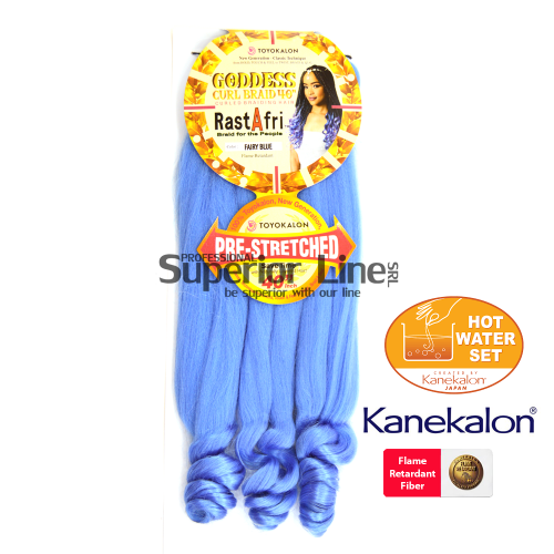 Rastafri Goddess Braid 3X Pre Streched (color FAIRY BLUE)