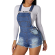 Overall of jeans lady