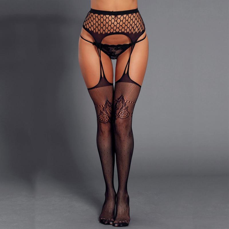 Women stockings with garter belt