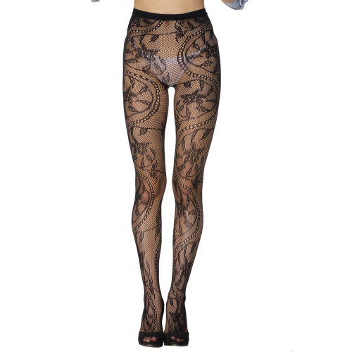 Sexy pantyhose with floral pattern