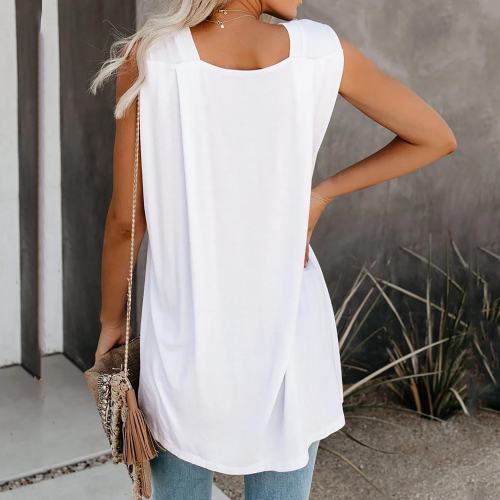 Sleeveless women blouse
