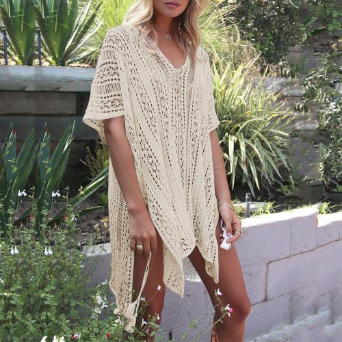 Knitted beach dress