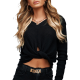 Women sweater elegant with V-neckline