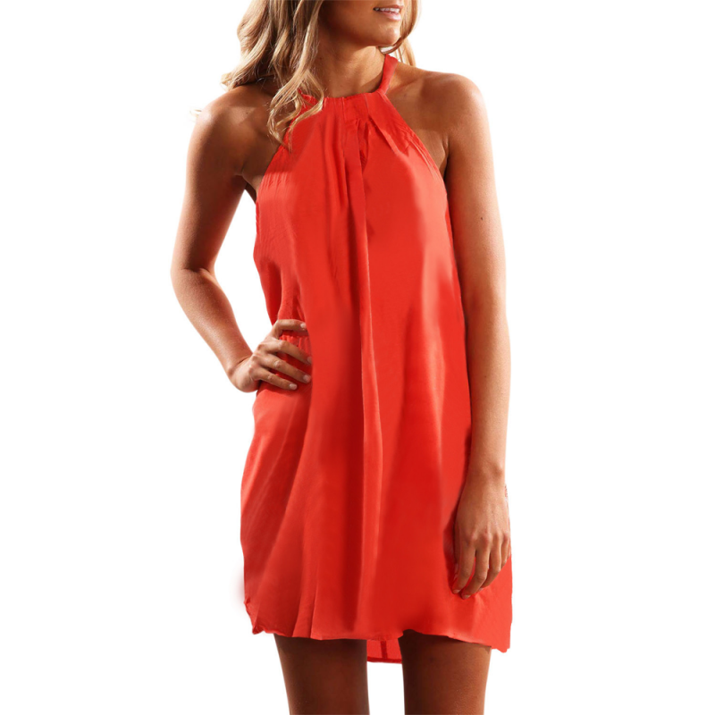 Summer dress with drawstring straps