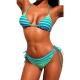 Swimsuit two-piece with triangle bra and brazilian panties