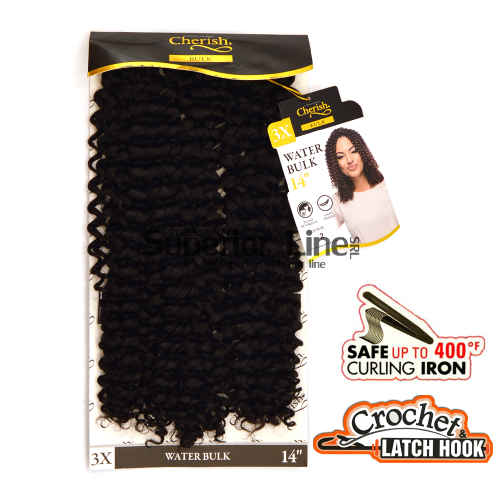 3X Water Bulk Crochet braids extensions (color 2)