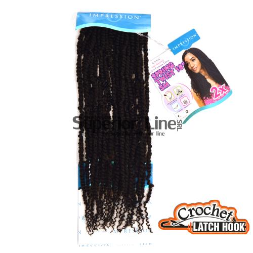 Impression SM 2X mèches de cheveux crochet tresses (couleur 2)