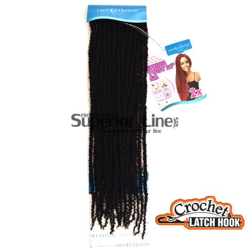 Impression SM 2X mèches de cheveux crochet tresses (couleur 1)