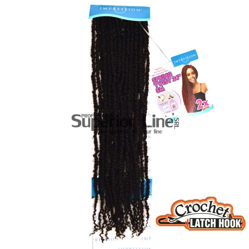 Impression SM 2X hajhosszabbitas szintetikus fürtök afro (szín 2)