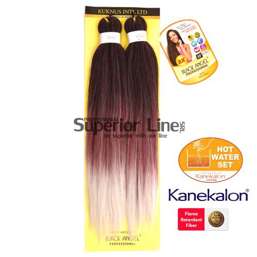 2X Black Angel Kanekalon haj (szín T1B/BUR/SILVER)