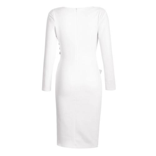 Dress Midi with asymmetrical button details