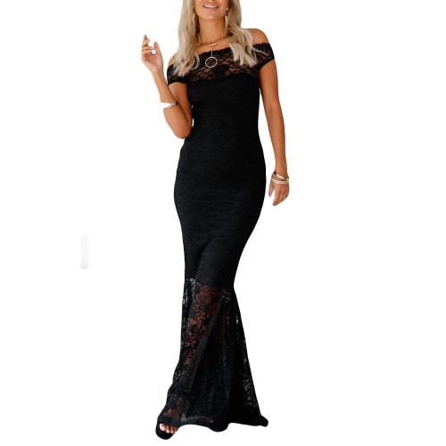 Dress maxi lace Bardot