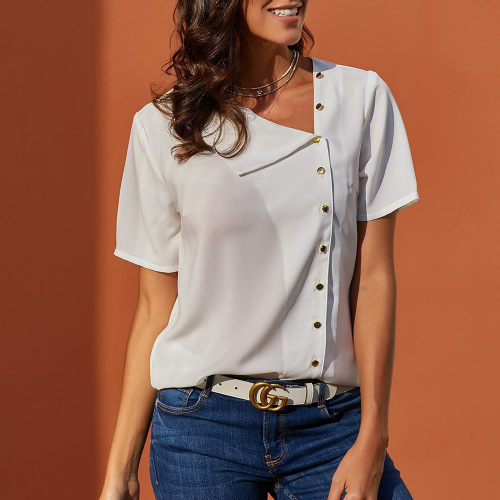 Women short sleeve blouse