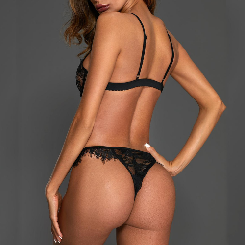 2-piece underwear set with lace