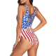 Swimsuit lady full with USA print