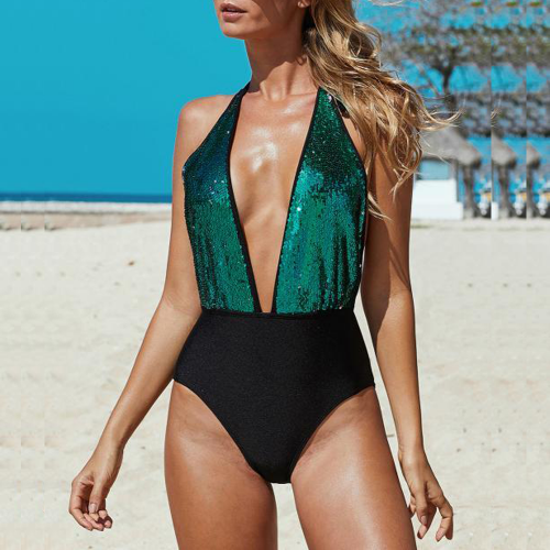 Swimsuit lady full with sequins