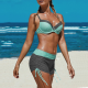 Swimsuit women two-piece with bra and shorts