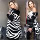 Cardigan women Hooded Elena zebra print