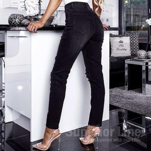 CW Ginnie Denim Ripped Mom Fit Jeans
