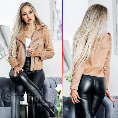 CW Jacket women Zelda Biker imitation leather