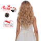 Kima FLS11 wig with lace synthetic hair (color SGD4276A)