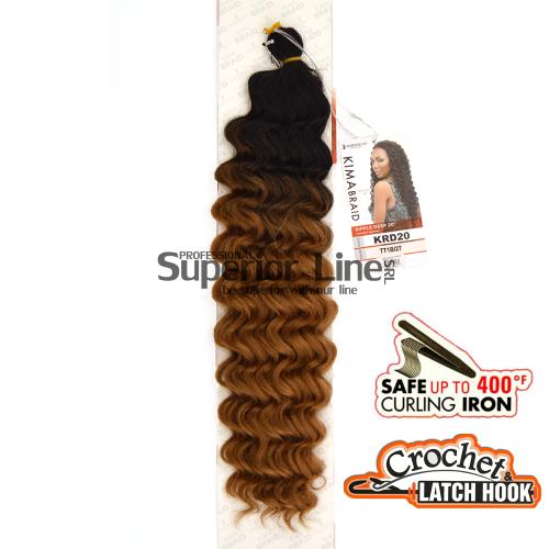 Kima Ripple Deep hajhosszabbitas szintetikus fürtök afro (szín TT1B/27)