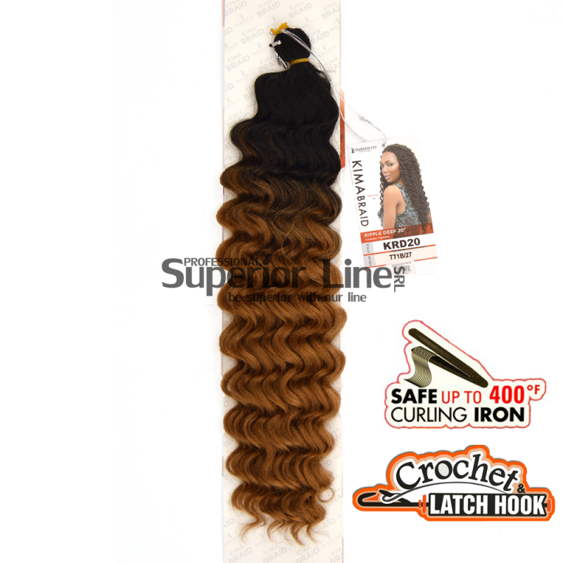 Kima Ripple Deep crochet braids (color TT1B/27)