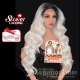 Kima FLS56 wig with lace deep synthetic hair (color SGDSILVR)