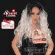 Kima FLS11 szintetikus haj parókák (szín SGDSILVR)