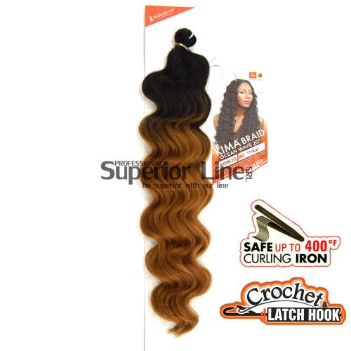 Kima Ocean Wave hajhosszabbitas szintetikus fürtök afro (szín TT1B/27)