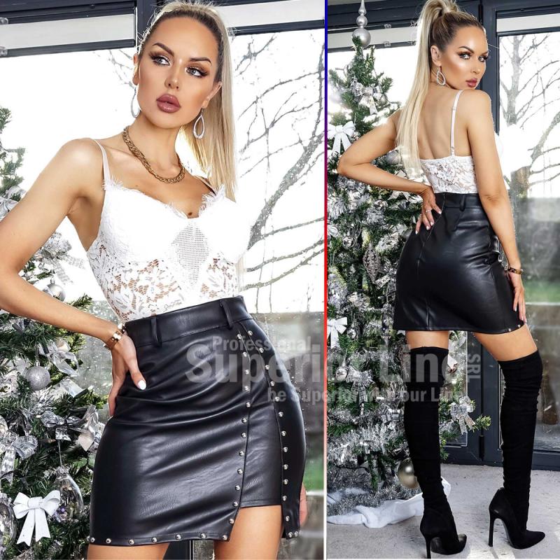 CW Mini skirt imitation leather women Chloe