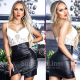 CW Mini skirt imitation leather women Lara Zip
