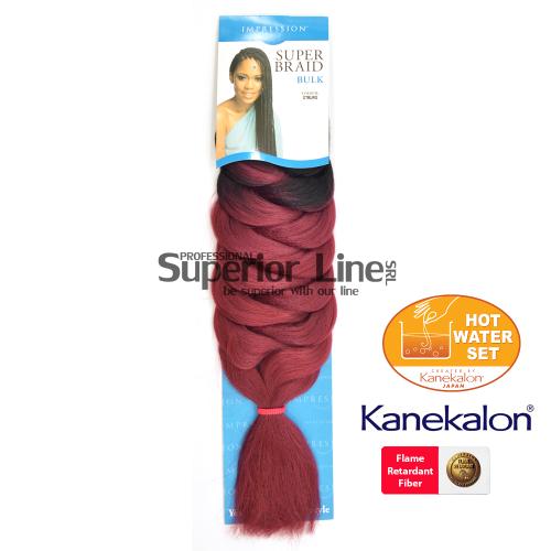 Impression Super Braid cheveu synthétique tresses kanekalon (couleur OTBURG)