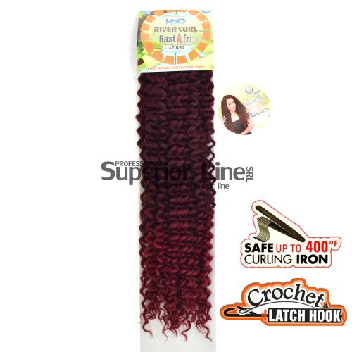 Rastafri River hajhosszabbitas szintetikus fürtök afro (szín T1B/BG)