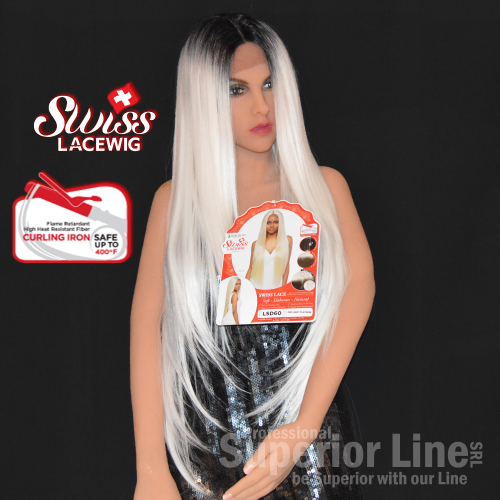 Kima LSD60 wig synthetic hair (color SGD LIGHT PLATINUM)