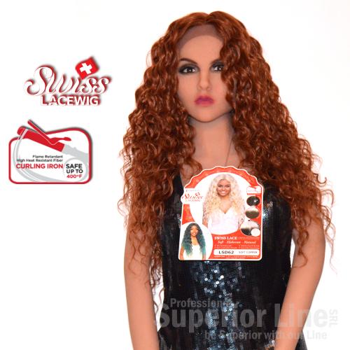 Kima LSD62 szintetikus haj parókák (szín SOFT COPPER)
